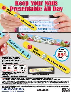 """Pro-File 7"""" Thick Foam - Nail File with Multi-Color Imprint."""